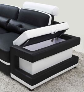 U Shape Sofa and Coffee Table Leather Corner Sofa for Living Room Furniture pictures & photos