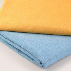 Wholesale Linen Look Polyester Spandex Stretch Woven Fabric for Garment