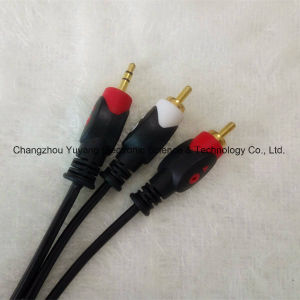 Fisheye 3.5 Stereo to 2r Audio/Video AV RCA Cable pictures & photos