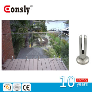 Glass Panel Floor Support Round Spigot with Base Plate pictures & photos