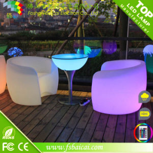 Illuminated Bar Table Aluminum Bar Table LED Furniture