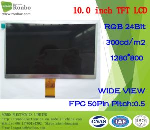 "10.1"" 1024X600 RGB 50pin 300CD/M2 Customized High Luminance LCD Screen pictures & photos"