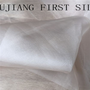 100%Silk 12mm Silk Organza Fabric Plain Dyed pictures & photos