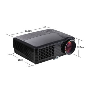 Yi-801 LED Projector 2000lumens Android WiFi 3D Beamer Home Cinema Theatre Projector TV LCD Video Game HDMI VGA Competitive pictures & photos