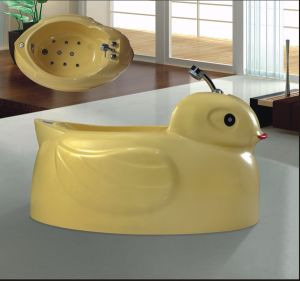 Cute Little Yellow Duck SPA Massage Bathtub SPA Special for Baby (AT-LW109) pictures & photos