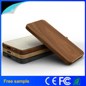 4000mAh Slim Wood Backup Power Bank pictures & photos