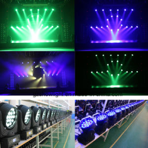 19PCS 12W Osram LED Beam Moving Head with Zoom LED Moving Head Light pictures & photos