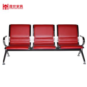 High Quality 3 Seat Full PU Padded Airport/Hospital/Station Bench Chair Waiting Area pictures & photos