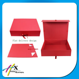 Wholesale Hard Red Paper Box Packaging Dress Packaging Box pictures & photos