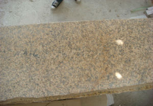 Polished Yellow Granite, China Tiger Skin Yellow Tile for Stair/Countertop/Vanity Top pictures & photos