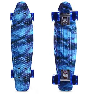 22 Inch Printing Sky Blue Skate Board Cruiser Longboard Skateboard pictures & photos