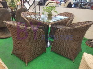 Outdoor Leisure Garden Courtyard Coffee PE Rattan Tables and Chairs pictures & photos