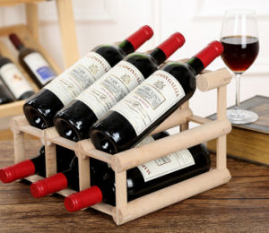 Solid Wood Wine Rack/Wood Wine Box for Wholesales pictures & photos