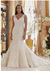 2017 Embroidered Lace Appliques Mermaid Bridal Wedding Dresses CTP002 pictures & photos