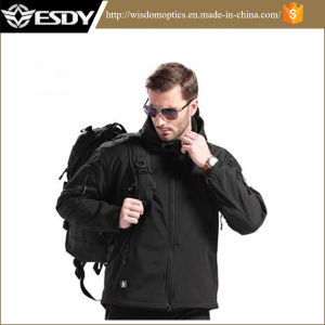 Tactical Windproof Waterproof Men Softshell Fleece Military Army Jacket Hoodie pictures & photos