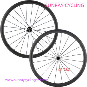 Carbon Road Bike Wheels 38mm Clincher Wheelset pictures & photos