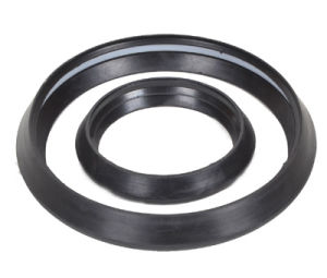 Good Decoration PVC Coupling with Rubber Ring Fitting (two faucet) pictures & photos