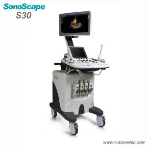 Hospital Medical Sosonoscape S30 3/4D Color Doppler Trolley Mobile Ultrasound Machine pictures & photos