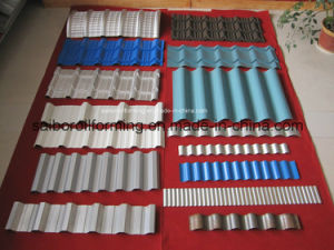 Samples of The Roofing Tile Roll Forming Machine pictures & photos
