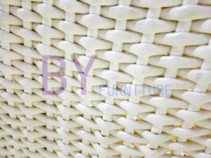 Italian Furniture Unique Design Curved White Rattan Daybed pictures & photos