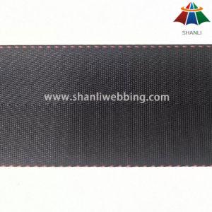 45mm Black Herringbone Nylon Webbing pictures & photos