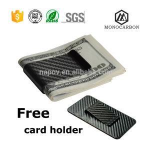 Wholesale Custom High Quality Carbon Fibre Business Money Clip Black Clip pictures & photos