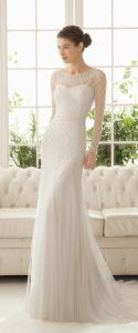 Mermaid Sexy Pure Bridal Dress Wedding with Long Sleeve pictures & photos