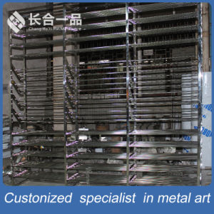 Factory Manufacture 304# Hairline Stainless Steel Display Rack for Suppermarket/Retailstore pictures & photos