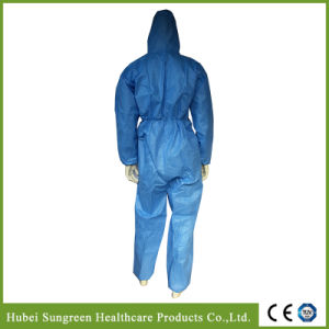 Disposable Light Blue SMMS Protective Coverall, Disposable Overall pictures & photos