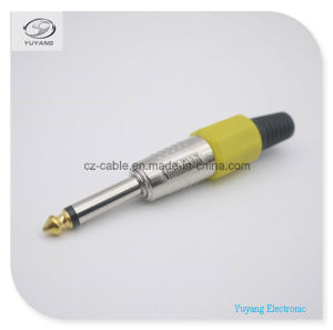 6.35mm/6.35 (1/4 inch) Mono Plug/Adapter for Microphone/Audio/AV Cable pictures & photos