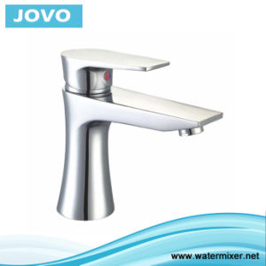 Ce Hot and Cold Brass Basin Mixer Chrome Plated Jv70101 pictures & photos