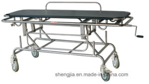 Sjm015 Stainless-Steel Rise-and-Fall Strether Cart pictures & photos