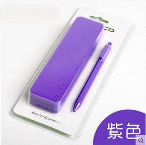 Promotional Rectangle Logo Personalized Multi-Color Silicone Writing Cases for Kids pictures & photos