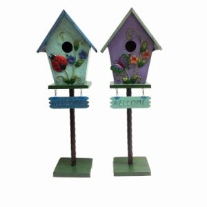"Highly Recommended Garden Decoration Metal ""Welcome""Excellent Birdhouse pictures & photos"