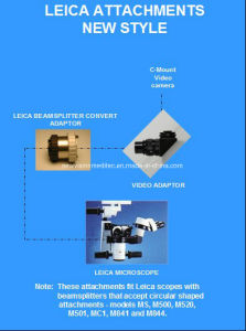 Leica Beam Splitter and Leica Video Adapter for Operation Microscope pictures & photos
