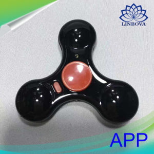 Mobile Phone APP Control LED Finger Spinner Bluetooth Hand Fidget Spinner Without Mini Speaker pictures & photos