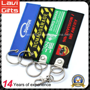 Supply Custom Design Embroidery Keychain with Printing Logo pictures & photos