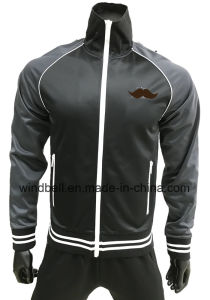 High Quality Handsome Sweat Fleece Jacket for Men with Trico pictures & photos