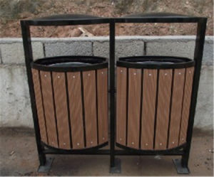 Many Kinds of Outdoor Environment WPC Trash Can pictures & photos