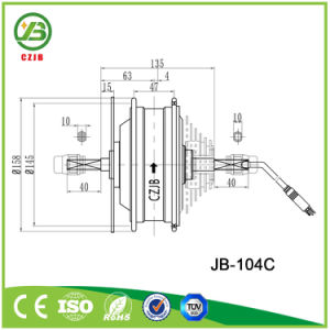 Jb-104c 36V 500W Rear Wheel Ebike Hub Brushless Motor pictures & photos