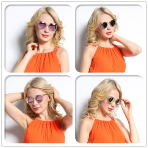 Hot Selling Custom Design Mirror Lens Tr90 Sunglasses pictures & photos