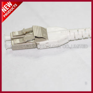 Fiber Optical LC Mini Uniboot Switchable Aqua Patch Cord pictures & photos