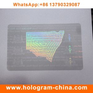 Anti-Fake 3D Laser Transparent ID Card Overlay Hologram pictures & photos