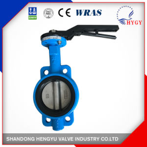 150lb~600lb Cast Iron 1 Inch Wafer Butterfly Valves pictures & photos