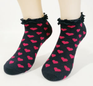 Summer Women Breathable Cotton Ankle Lace Socks pictures & photos