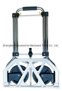 Foldable Chrome-Plated Steel Hand Truck (HT022AC) pictures & photos