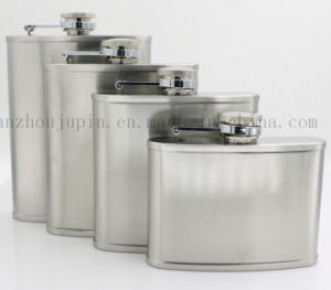 OEM Logo Vodka Whisky Stainless Steel Hip Flask for Promotion pictures & photos