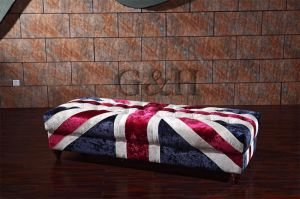 High Quality and Hot Sale UK Flag Fabric Ottoman pictures & photos