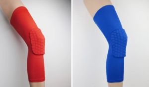 Extended Long Knee Protection PRO Level Sports Care Knee Support Basketball Leg Pads Kneepads pictures & photos