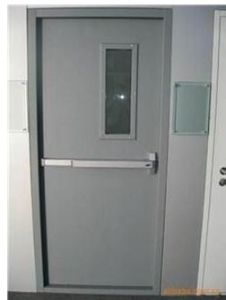 Fireproof Steel Door with UL Label/ Vision Panel and Panic Lock